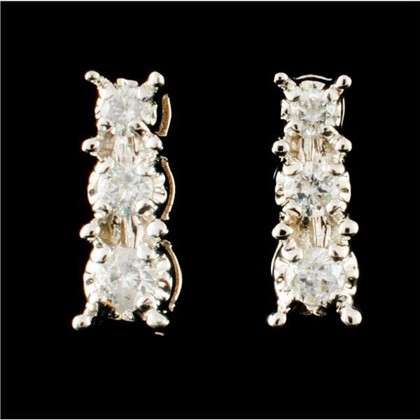 14K Gold 0.20ctw Diamond Earrings