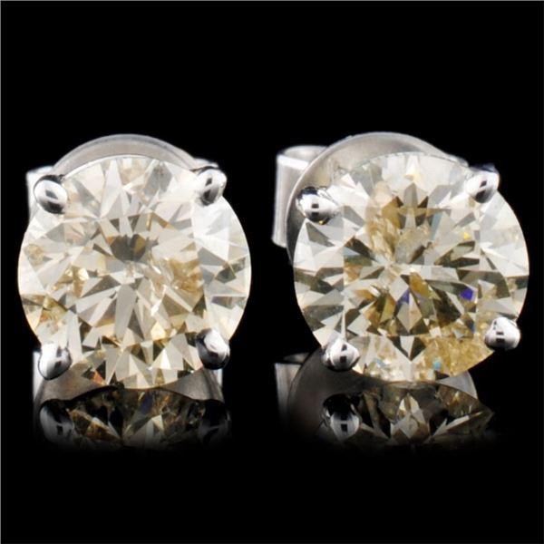 14K Gold 2.42ctw Stud Earrings