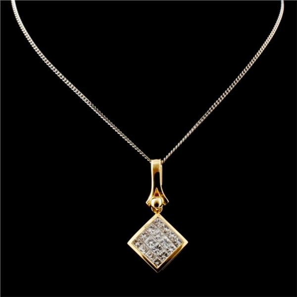 18K Yellow Gold 1.00ctw Diamond Pendant