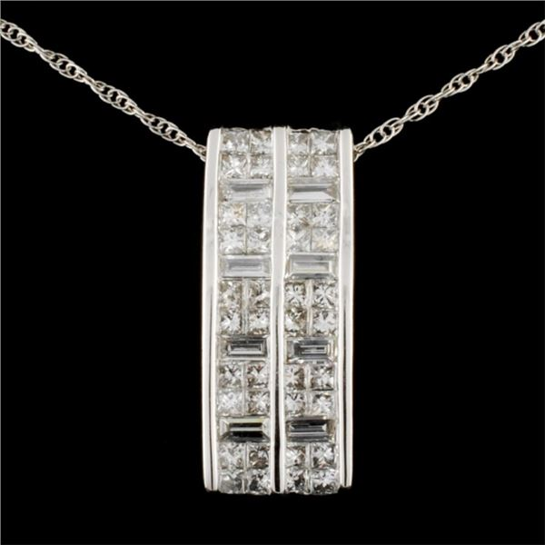 14K Gold 1.63ctw Diamond Pendant