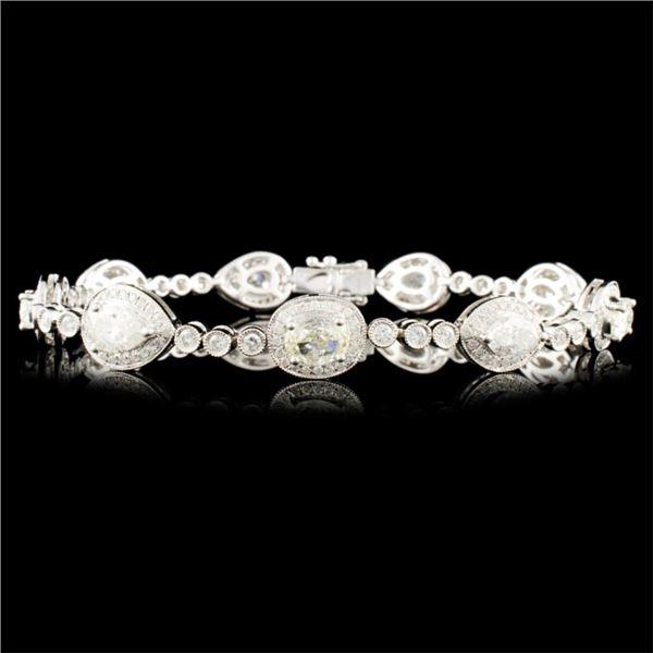 18K Gold 6.44ctw Diamond Bracelet