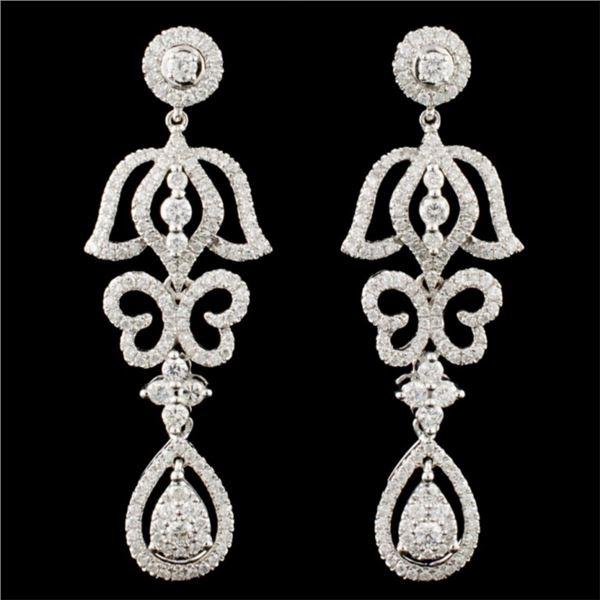 14K Gold 1.77ctw Diamond Earrings