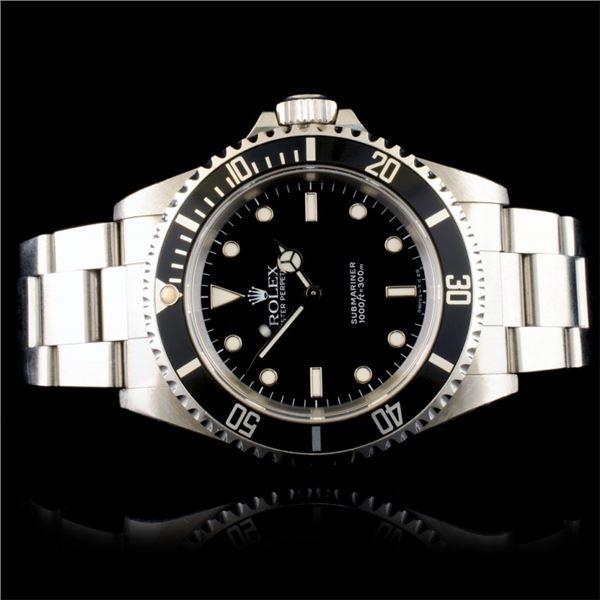 Rolex Submariner No Date Stainless Steel Watch