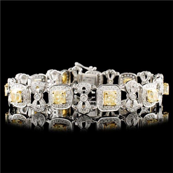 18K Gold 7.59ctw Fancy Diamond Bracelet