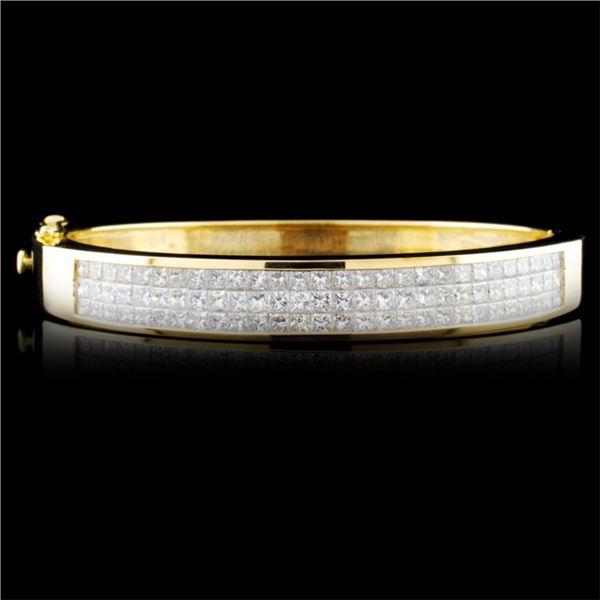 18K Gold 6.45ctw Diamond Bangle