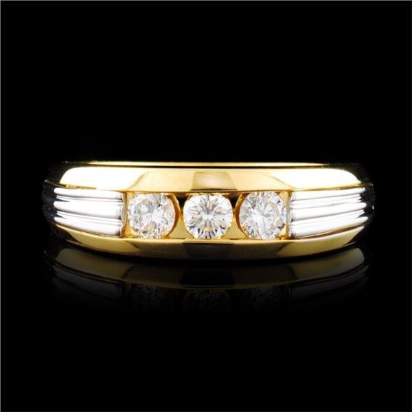 18K Gold & Platinum 0.39ctw Diamond Ring