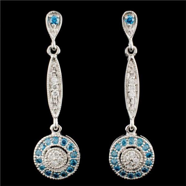 14K Gold 0.55ctw Fancy Diamond Earrings