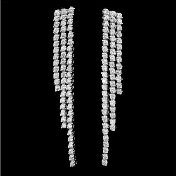 18K White Gold 2.36ctw Diamond Earrings