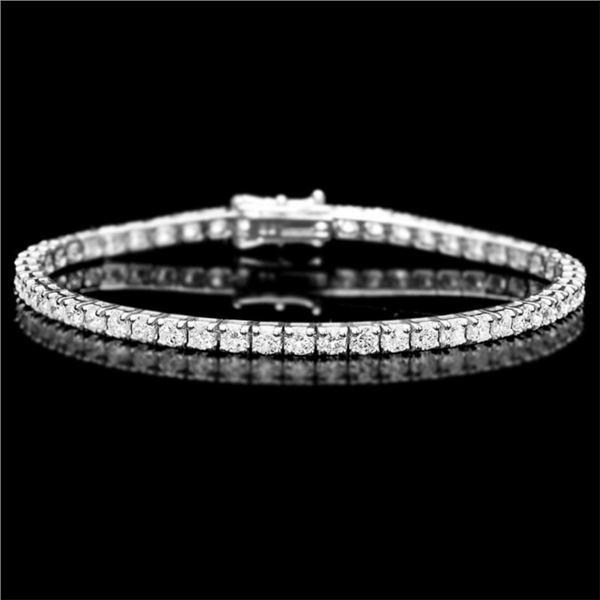 18k White Gold 5.00ct Diamond Bracelet
