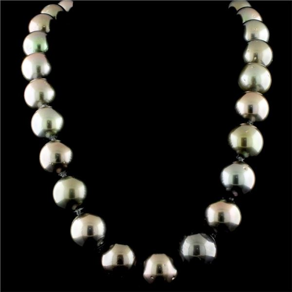 14K Gold 14-16MM Tahitian South Sea Pearl Necklace