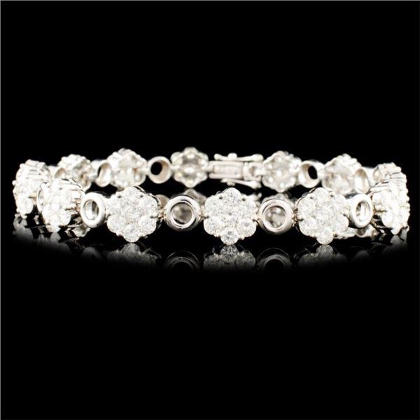 18K Gold 6.77ctw Diamond Bracelet