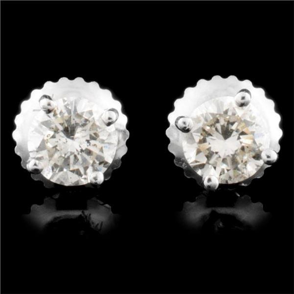 14K Gold 0.70ctw Diamond Earrings