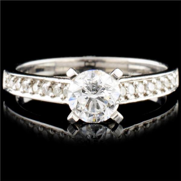 18K Rose Gold 0.85ctw Diamond Ring