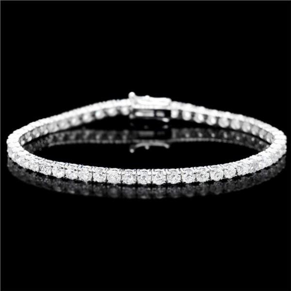 18k White Gold 7.45ct Diamond Bracelet