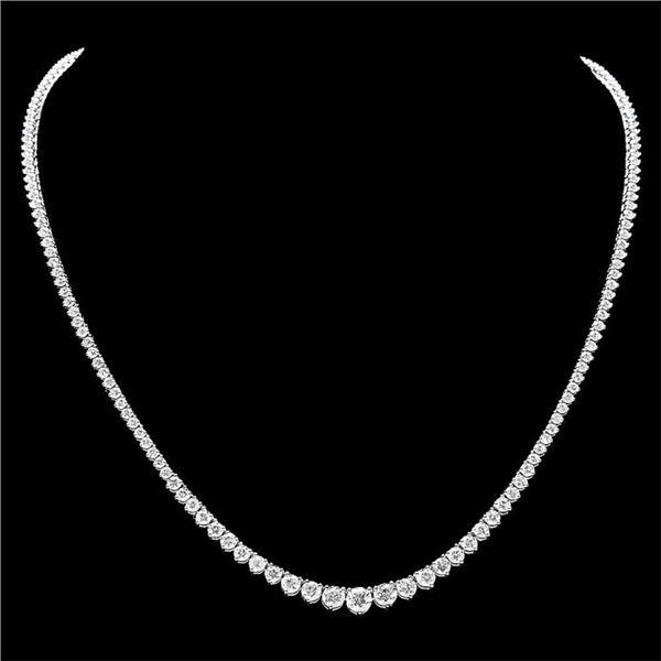 18k White Gold 9.50ct Diamond Necklace