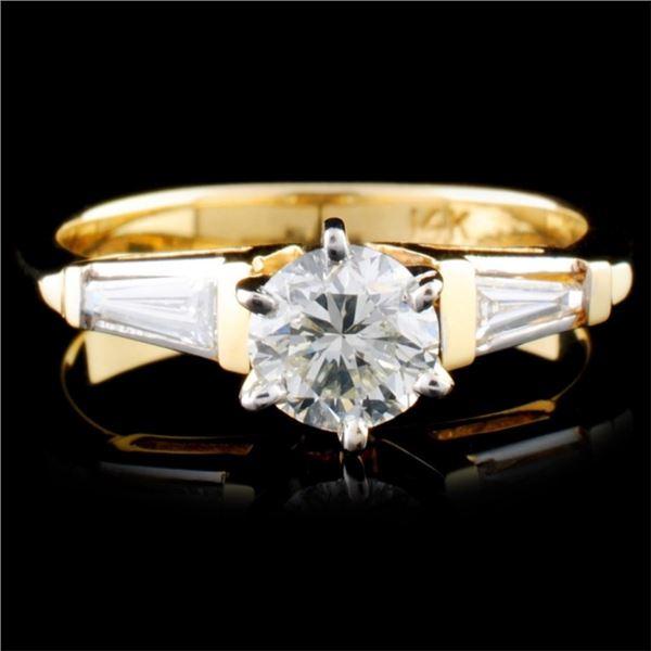 14K Yellow Gold 0.87ctw Diamond Ring