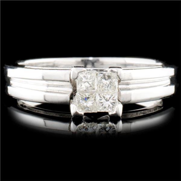 18K Gold 0.25ctw Diamond Ring