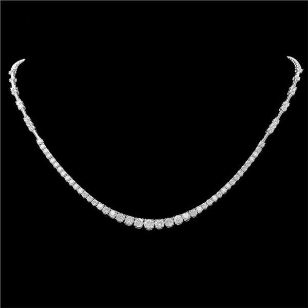 18k White Gold 6.00ct Diamond Necklace