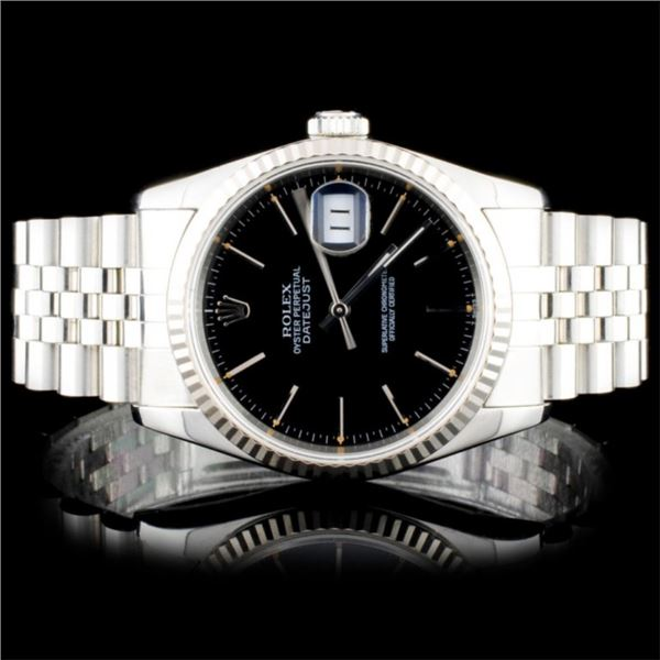 Rolex SS DateJust 36MM Wristwatch