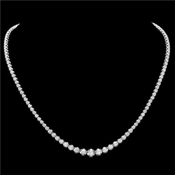 18k White Gold 6.50ct Diamond Necklace