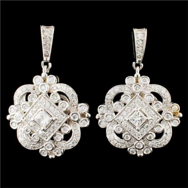 14K Gold 1.68ctw Diamond Earrings
