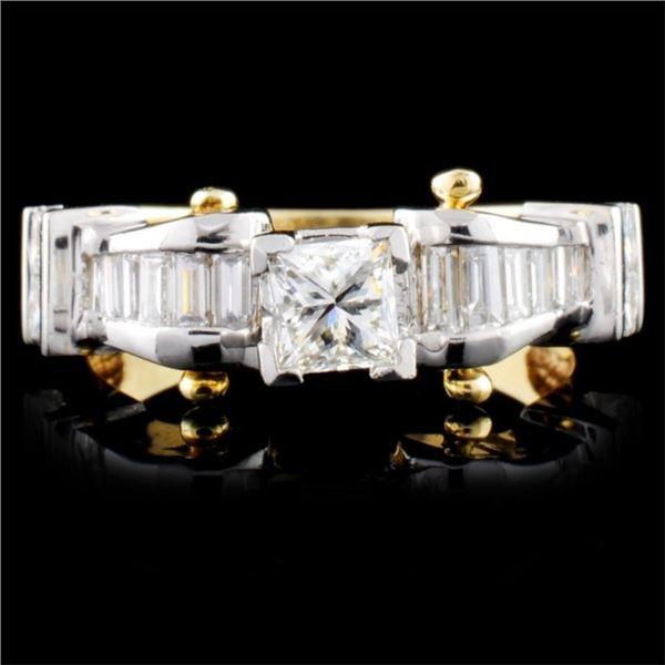 14K TT Gold 1.45ctw Diamond Ring