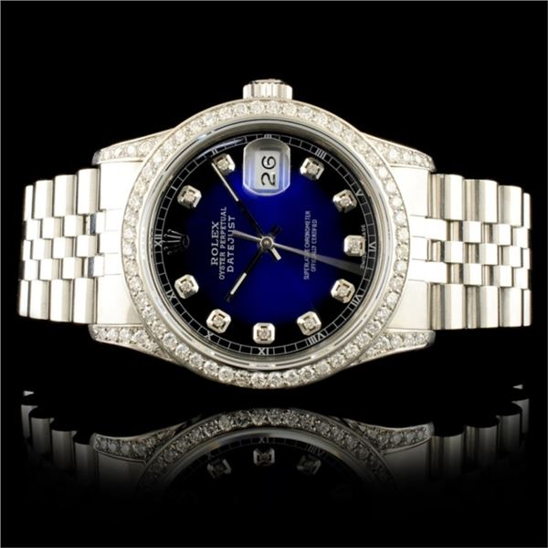 Rolex DateJust 1.50ctw Diamond 36MM Wristwatch