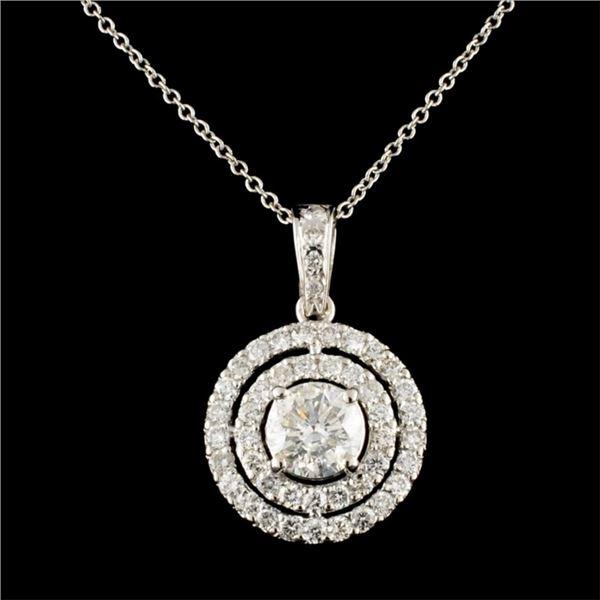 14K Gold 1.75ctw Diamond Pendant