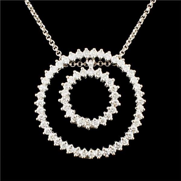 14K Gold 2.37ctw Diamond Pendant