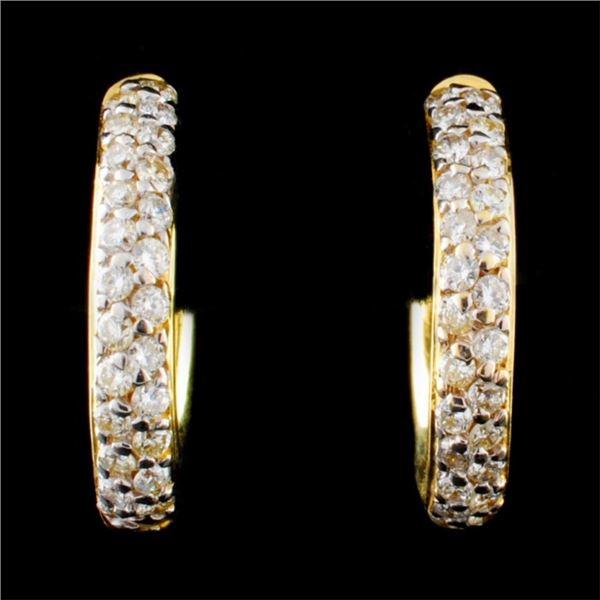 18K Yellow Gold 0.50ct Diamond Earrings