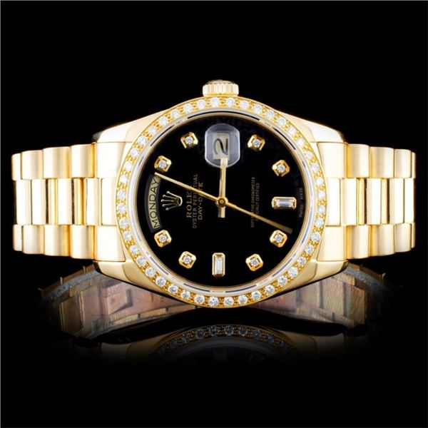 Rolex 18K YG Day-Date Diamond 36MM Watch