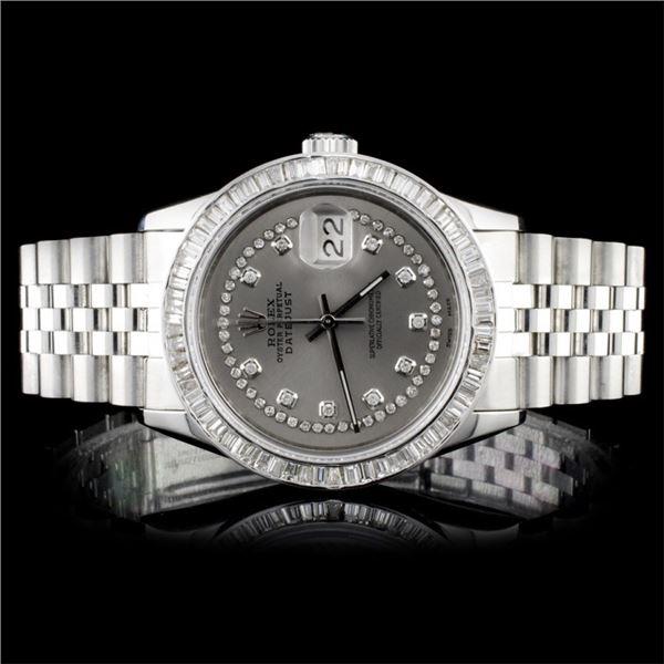 Rolex SS DateJust Diamond Men's Watch