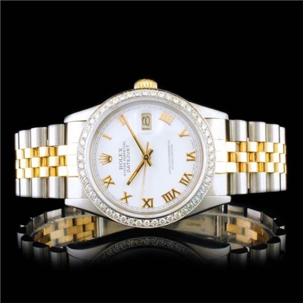 Rolex DateJust YG/SS Diamond 36mm Wristwatch