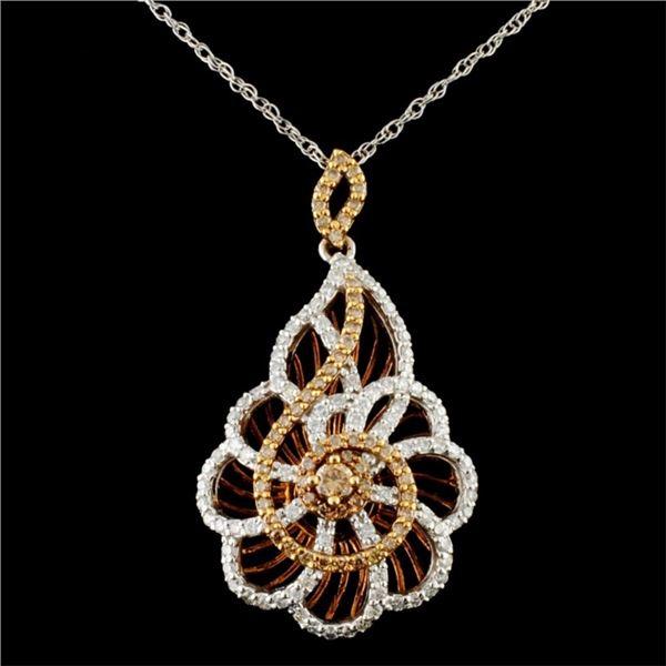 14K Gold 1.06ctw Diamond Pendant