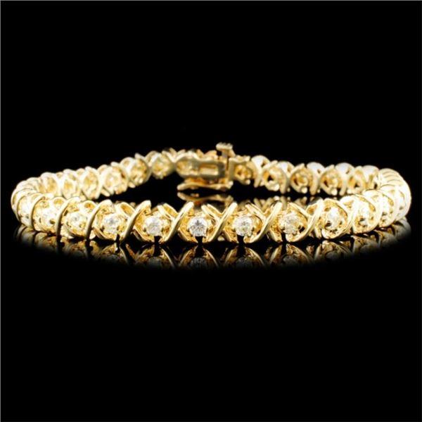 14K Gold 2.00ctw Diamond Bracelet