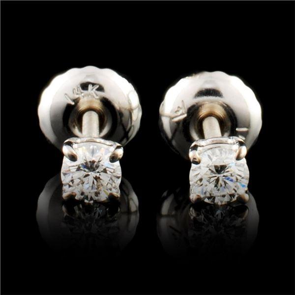 14K Gold 0.19ctw Diamond Earrings