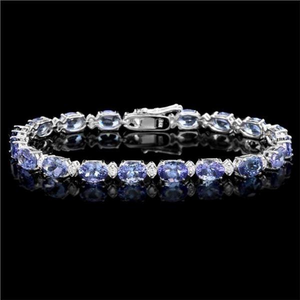 `14k Gold 14.00ct Tanzanite & 1.00ct Diamond Brace