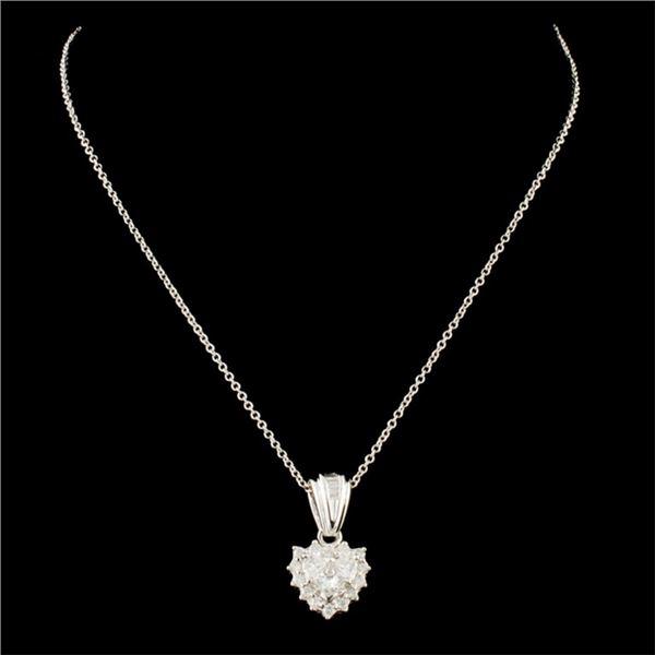14K Gold 0.46ctw Diamond Pendant