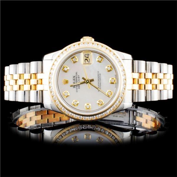 Rolex 31mm DateJust 1.00ct Diamond Watch