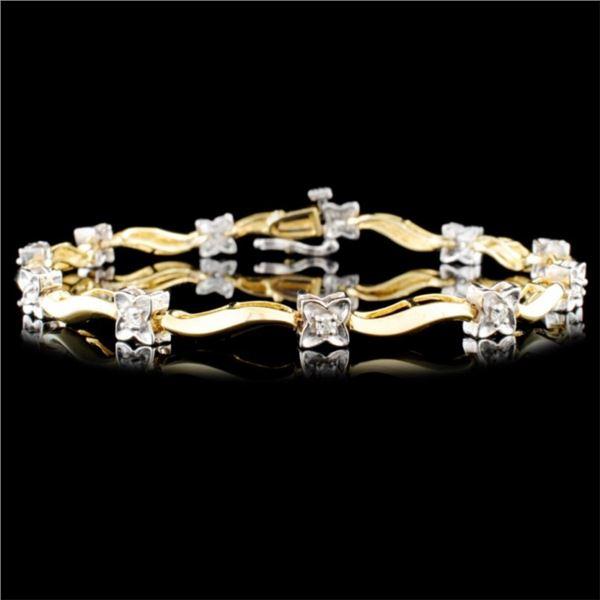 14K Gold 0.33ctw Diamond Bracelet