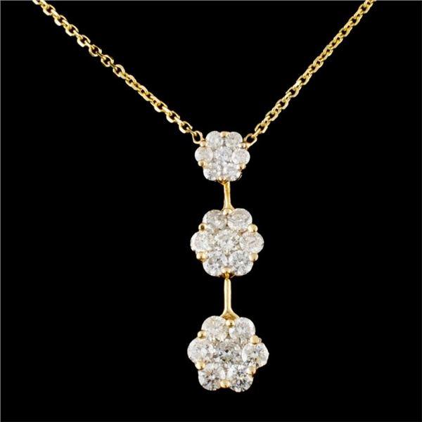 14K Gold 2.10ctw Diamond Necklace