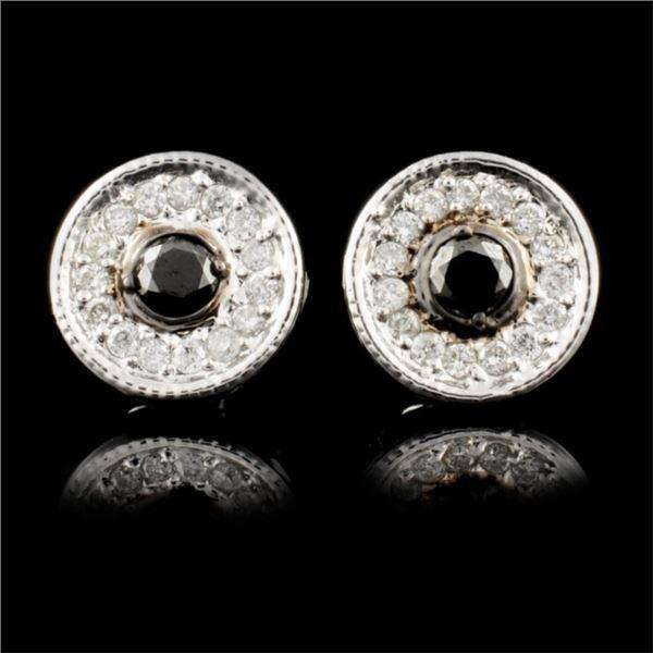 14K Gold 0.35ctw Fancy Color Diamond Earrings