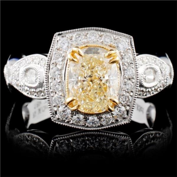 18K White Gold 2.14ctw Fancy Diamond Ring