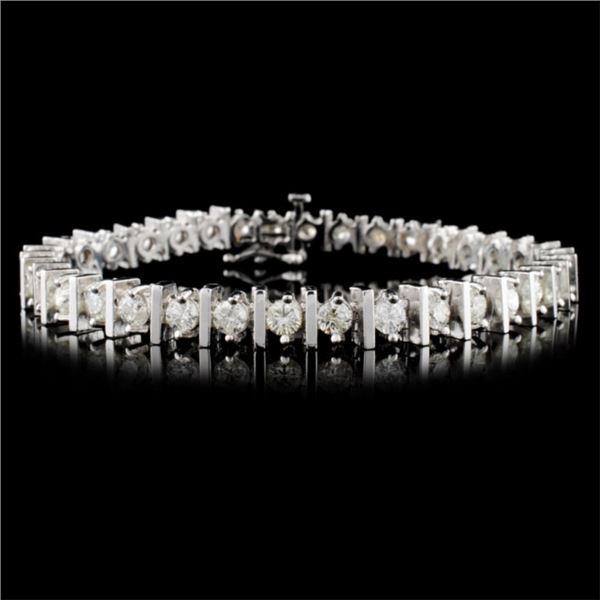 14K White Gold 5.00ctw Diamond Bracelet