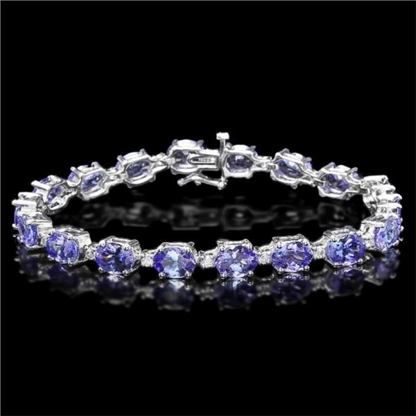 `14k Gold 19.00ct Tanzanite & 0.75ct Diamond Brace
