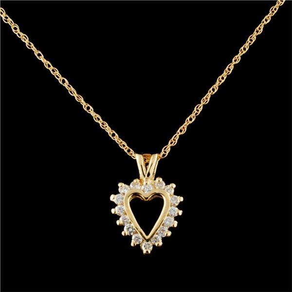 14K Gold 0.36ctw Diamond Pendant