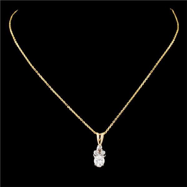 14K Gold 0.26ctw Diamond Pendant