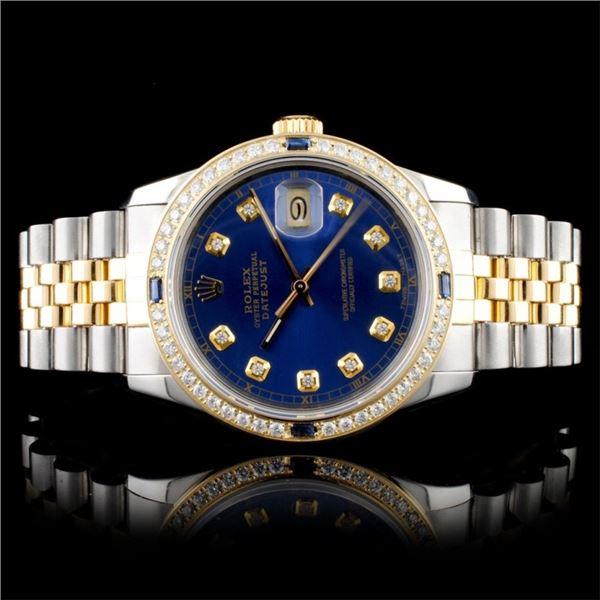 Rolex DateJust 36MM 1.50ct Diamond Wristwatch