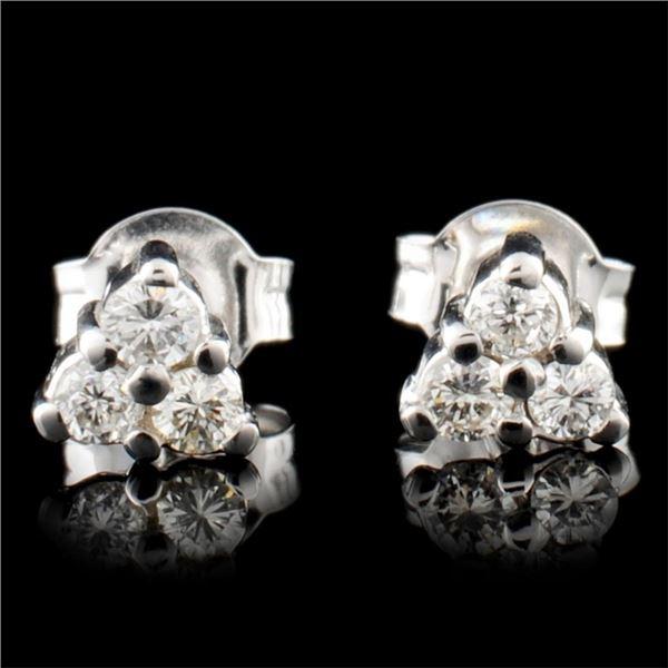 14K Gold 0.26ctw Diamond Earrings