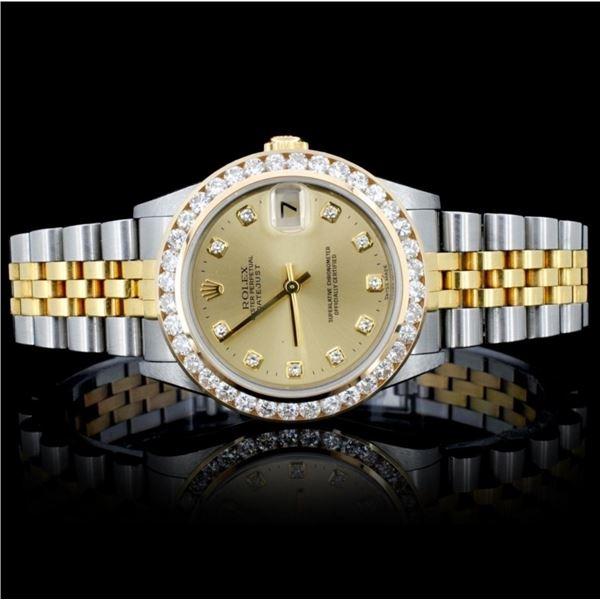 Rolex YG/SS DateJust 2.50ct Diamond 31MM Watch